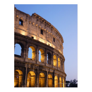 Part of Colosseum at dusk Postcards