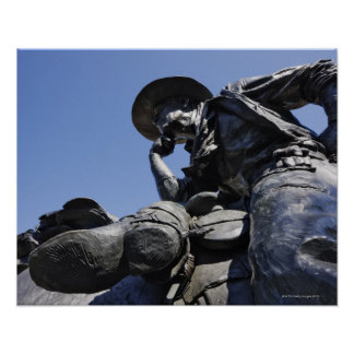 Part of the Cattle Drive sculpture in Downtown Poster