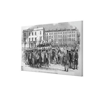 Part of the Chartist Procession Canvas Print