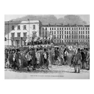 Part of the Chartist Procession Postcard