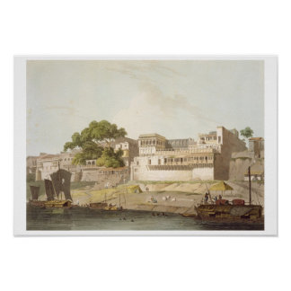 Part of the City of Patna, on the River Ganges, fr Poster