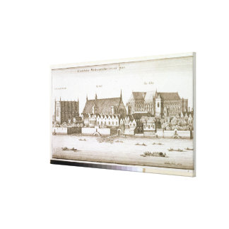 Part of the City of Westminster, 1647 (engraving) Canvas Print