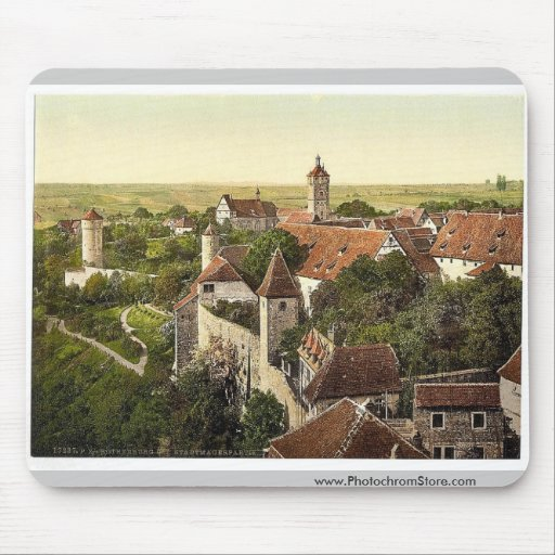 Part of the city, Rothenburg (i.e. ob der Tauber), Mouse Pad