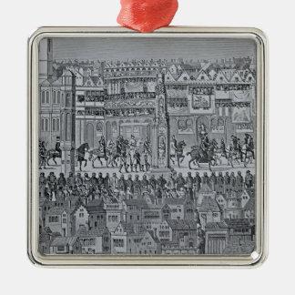 Part of the Coronation Procession of Edward VI Metal Ornament