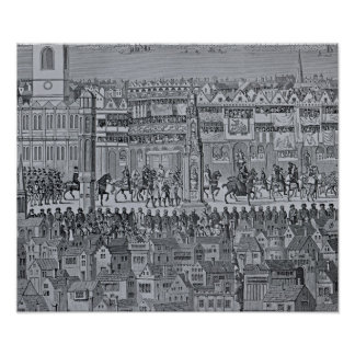 Part of the Coronation Procession of Edward VI Poster