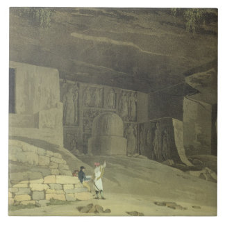 Part of the Kanaree Caves, Salsette, plate 62 from Tile