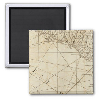 Part of the provinces of Costa Rica and Nicaragua 2 Inch Square Magnet