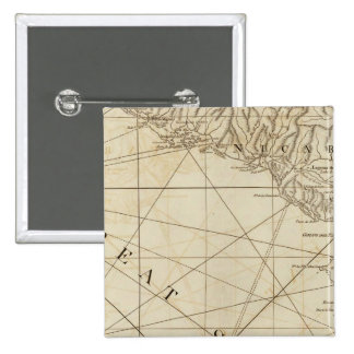 Part of the provinces of Costa Rica and Nicaragua 2 Inch Square Button
