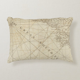Part of the provinces of Costa Rica and Nicaragua Decorative Pillow