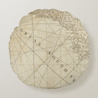 Part of the provinces of Costa Rica and Nicaragua Round Pillow