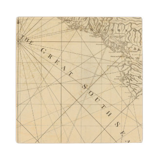 Part of the provinces of Costa Rica and Nicaragua Wood Coaster