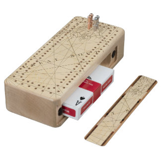 Part of the provinces of Costa Rica and Nicaragua Wood Cribbage Board