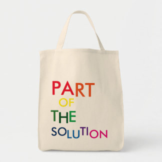 PART OF THE SOLUTION RAINBOW TOTE