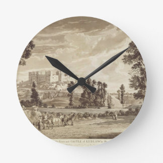 Part of the Town and Castle of Ludlow in Shropshir Wall Clocks