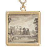 Part of the Town and Castle of Ludlow in Shropshir Custom Jewelry