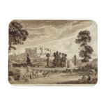 Part of the Town and Castle of Ludlow in Shropshir Rectangle Magnets