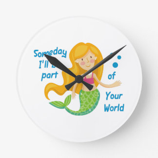 Part Of Your World Round Clock