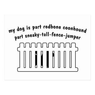 Part Redbone Coonhound Part Fence-Jumper Postcard
