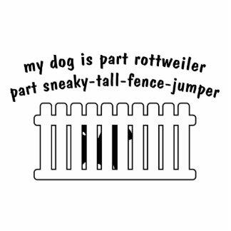 Part Rottweiler Part Fence-Jumper Standing Photo Sculpture