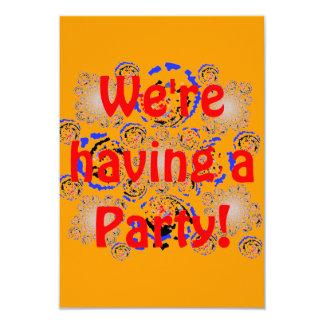 Part RSVP Add occasion 3.5x5 Paper Invitation Card