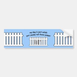 Part Saluki Part Fence-Jumper Bumper Sticker