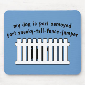 Part Samoyed Part Fence-Jumper Mouse Pad