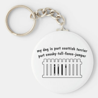 Part Scottish Terrier Part Fence-Jumper Keychain