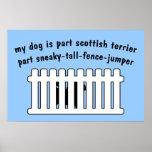 Part Scottish Terrier Part Fence-Jumper Print