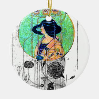Part Seen - Part Imagined by Charles R. Mackintosh Ceramic Ornament