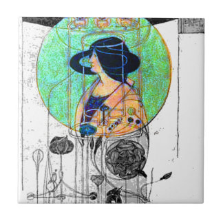 Part Seen - Part Imagined by Charles R. Mackintosh Ceramic Tile