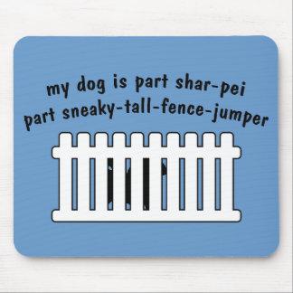 Part Shar-Pei Part Fence-Jumper Mouse Pad
