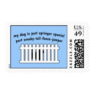 Part Springer Spaniel Part Fence-Jumper Postage