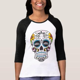 PART TIME BADASS- sugar skull raglan T-Shirt