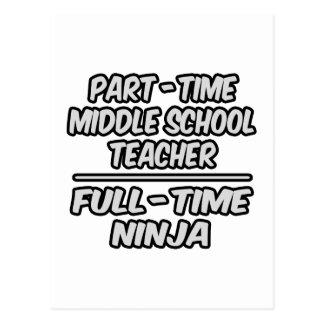 Part-Time Middle School Teacher...Full-Time Ninja Post Card