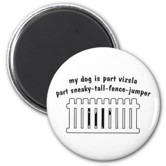 Part Vizsla Part Fence-Jumper 2 Inch Round Magnet