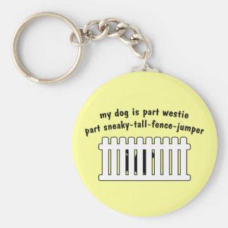 Part Westie Part Fence-Jumper Basic Round Button Keychain