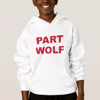 Part Wolf Red Hoodie