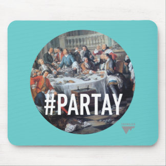 PARTAY Up In Here #Hashtag - Trendium Art Captions Mouse Pad