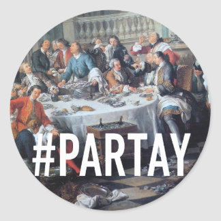 PARTAY Up In Here Hashtag - Trendium Art Captions Sticker