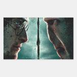 Parte 2 de Harry Potter 7 - Harry contra Voldemort Pegatina Rectangular
