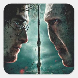 Parte 2 de Harry Potter 7 - Harry contra Voldemort Pegatina Cuadrada