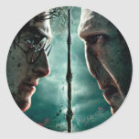 Parte 2 de Harry Potter 7 - Harry contra Voldemort Pegatina Redonda