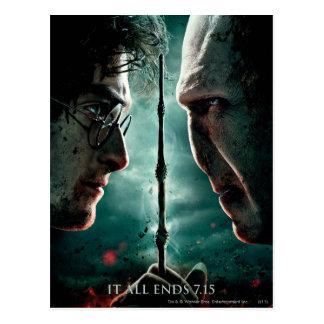 Parte 2 de Harry Potter 7 - Harry contra Voldemort Tarjeta Postal