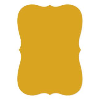 """Parte alta amarilla oscura coloreada invitación 5"""" x 7"""""""