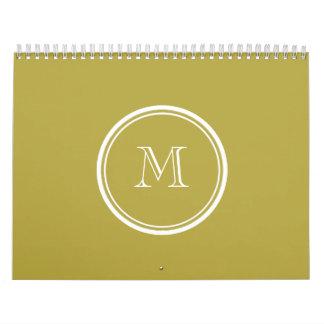 Parte alta de cobre amarillo coloreada con calendario