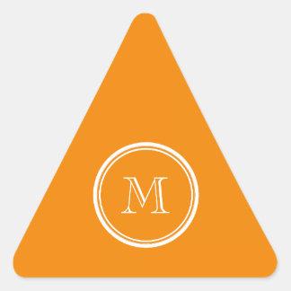 Parte alta de la mandarina coloreada pegatina triangular