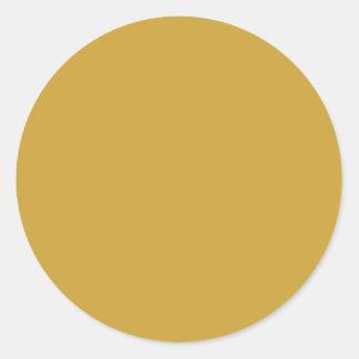 Parte alta del oro de Sheen del satén de entonado Pegatina Redonda