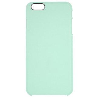 Parte alta ligera de la verde menta coloreada el funda clearly™ deflector para iPhone 6 plus de unc
