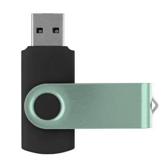 Parte alta ligera de la verde menta coloreada el pen drive giratorio USB 2.0