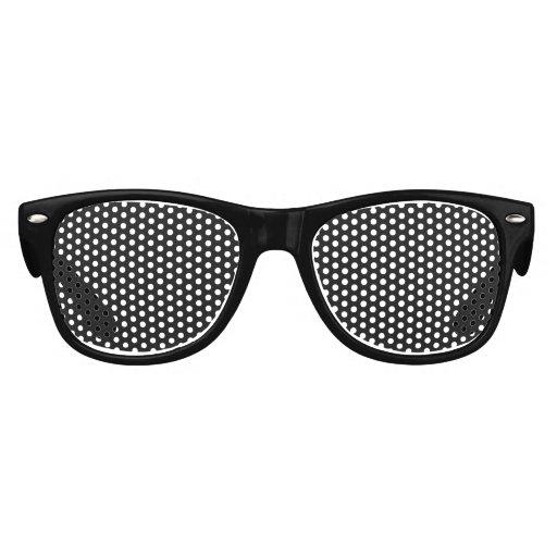Parte alta negra coloreada gafas de fiesta